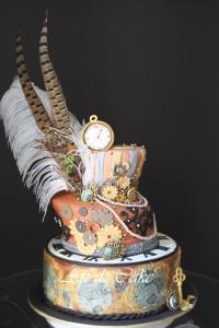Steampunk Topsey Turvy Cake