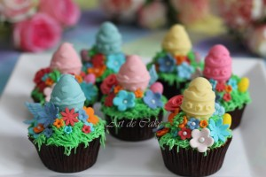 Easter Garden Cupcakes