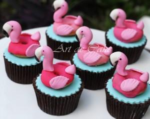 Flamingo Donut Cupcakes