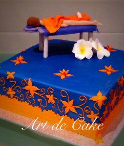 Massage Table Cake