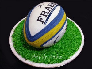 Rugby Union Football Cake