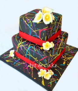 Black Splatter Cake