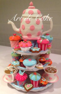 Tea Pot Tea Party Cake