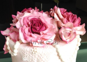 Vintage Rose flowers and rose buds